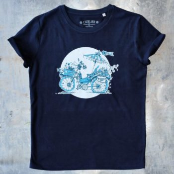 3-H bleu marine plat