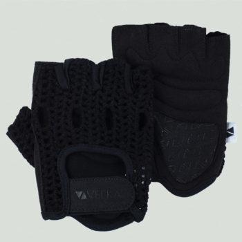 mitaines crochet noir